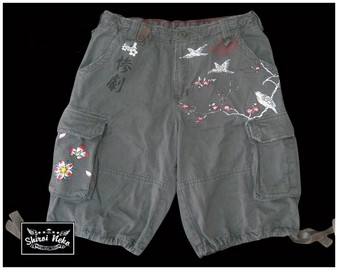shiroi neko cargo shorts